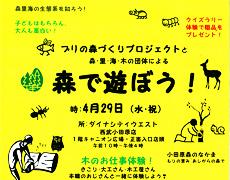 ブリの森づくりプロジェクトと森・里・海・木の団体による『森で遊ぼう!』