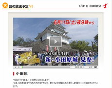 6/11放送の「出没!アド街ック天国」は小田原。弊社でもロケがありました!