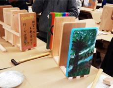 小田原市主催木育:卒業記念品での本立て作りに協力しました【早川小学校】