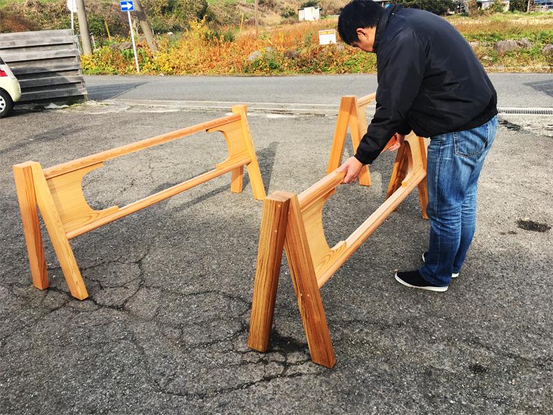 報徳の森プロジェクト『Ki-saku』(木柵)制作をしました。
