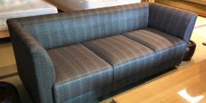 箱根老舗高級旅館 客室ソファの張替え