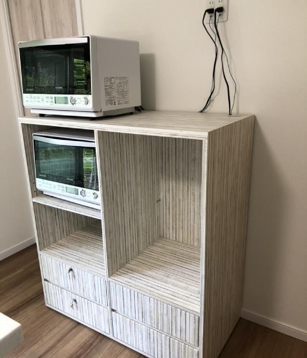 緑町の料理教室の棚を作製