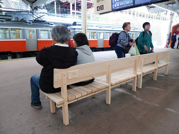 「木のぬくもりを感じるベンチ」製作