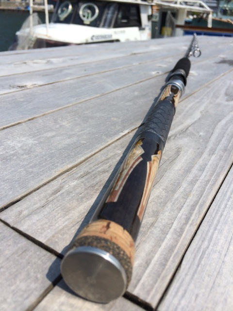 木象嵌を使用した釣具が完成