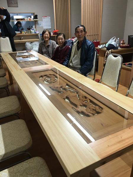 小田原 南相馬 欄間のテーブル
