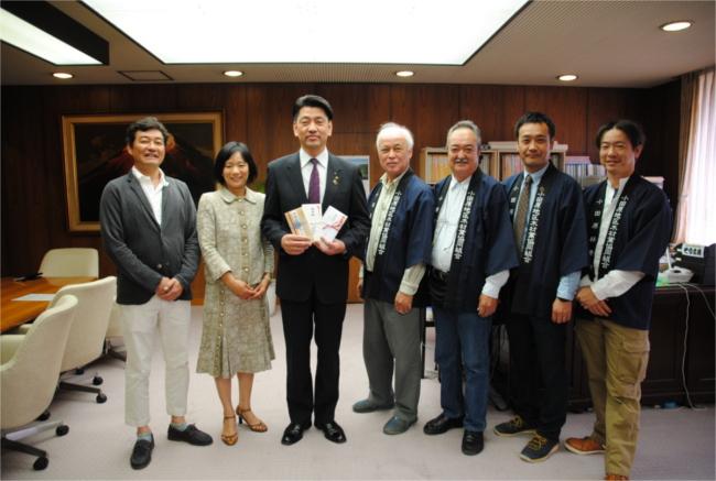 小田原市に森林・林業振興のための寄附を行いました。