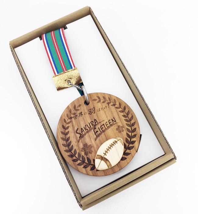 ラグビー女子日本代表候補(サクラフィフティーン)の歓迎セレモニー用メダルを作製しました。