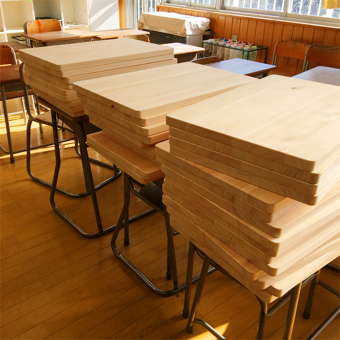 木育 ヒノキ 天板