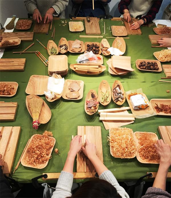 湘南T-SITEにて箸作り体験に参加しました。