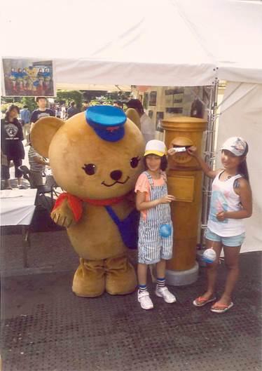 横浜セントラルタウンフェスティバルに間伐材ポストを貸し出しました。
